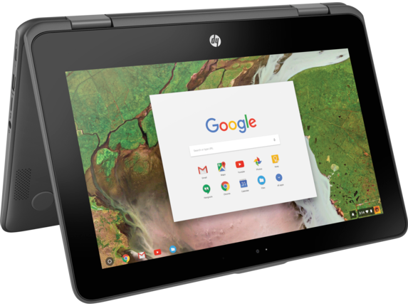 HP Chromebook x360 - 11-ae010nr - Right rear