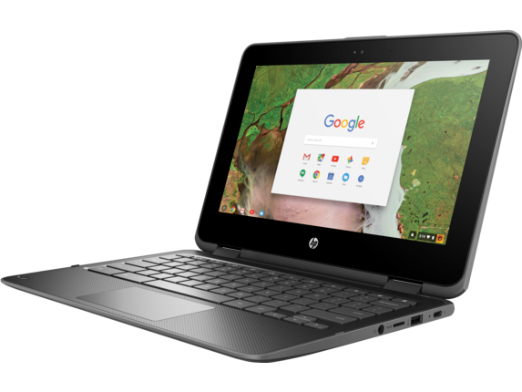 HP Chromebook x360 - 11-ae010nr - Left