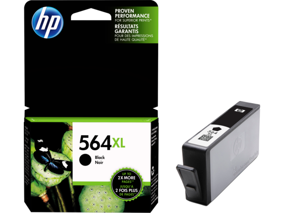 HP 564XL/564 High Yield Black and Standard Color Ink Catridge Bundle - Left