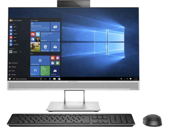HP EliteOne 800 G3 23.8-inch Touch All-in-One PC (ENERGY STAR) - Center