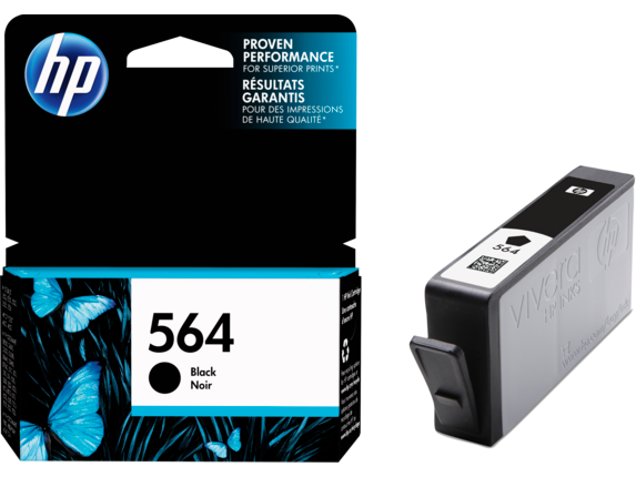 HP 564 Black Original Ink Cartridge - Right