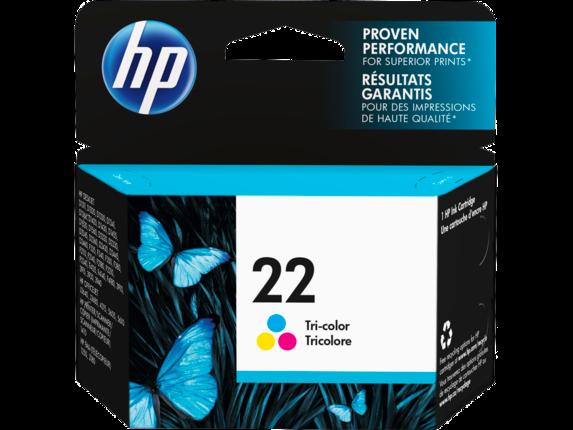 HP 22 Tri-color Original Ink Cartridge - Center