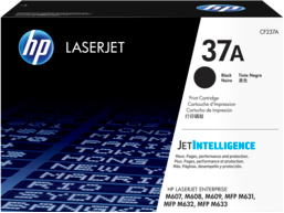 HP 37A Black Original LaserJet Toner Cartridge, CF237A