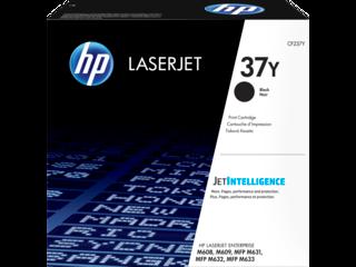 HP 37Y Extra High Yield Black Original LaserJet Toner Cartridge, CF237Y