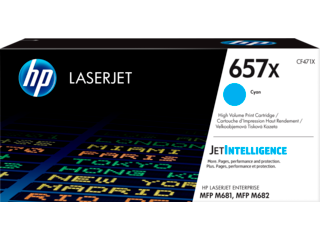 HP 657X High Yield Cyan Original LaserJet Toner Cartridge, CF471X