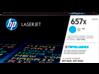 HP 657X High Yield Cyan Original LaserJet Toner Cartridge, CF471X