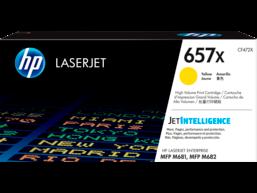 HP 657X High Yield Yellow Original LaserJet Toner Cartridge, CF472X