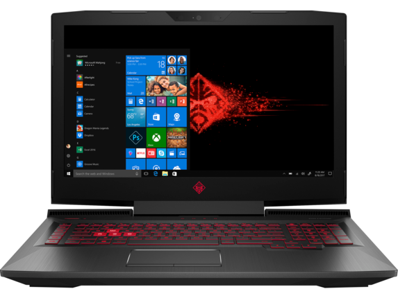 "OMEN 17"" Laptop, Monitor + VR Headset - Left"