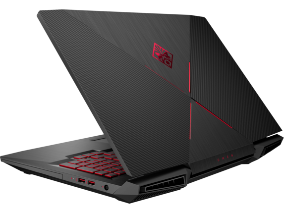 OMEN Laptop - 17t gaming 8GB gfx - Left rear