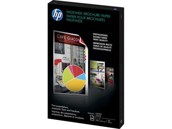 HP PageWide Glossy Brochure Paper-200 sht/Tabloid/11 x 17 in - Left