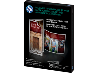 HP PageWide Glossy Trifold Brochure Paper-200 sht/Letter/8.5 x 11 in - Img_Left_320_240