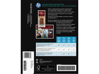 HP PageWide Glossy Trifold Brochure Paper-200 sht/Letter/8.5 x 11 in - Img_Rear_320_240