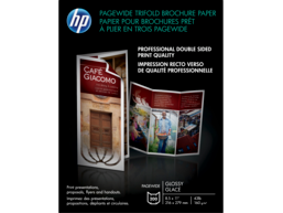 HP PageWide Glossy Trifold Brochure Paper-200 sht/Letter/8.5 x 11 in
