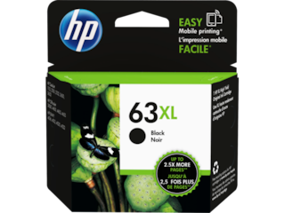 HP 63XL High Yield Black Original Ink Cartridge, F6U64AN#140