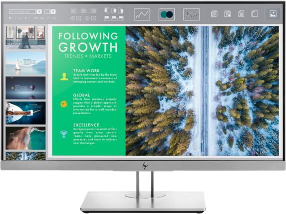 HP EliteDisplay E243 23.8-inch Monitor - Center
