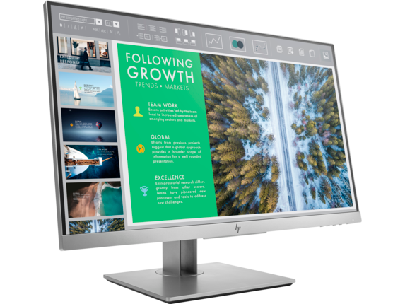 HP EliteDisplay E243 23.8-inch Monitor - Right