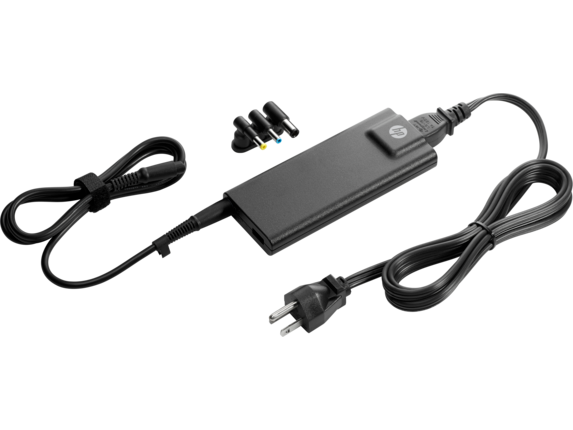 HP 90W Slim with USB AC Adapter - Left