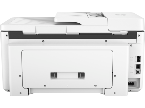 HP OfficeJet Pro 7720 Wide Format All-in-One Printer - Rear