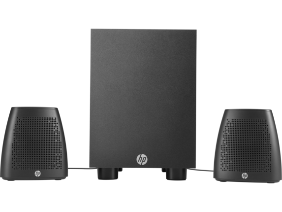 HP Slimline Desktop - 270-p025xt + Speaker System Bundle - Rear
