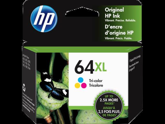 HP 64XL High Yield Tri-color Original Ink Cartridge - Center