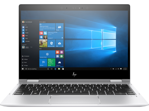 HP EliteBook x360 1020 G2 with HP Sure View - Center