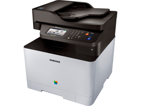 Samsung Xpress SL-C1860FW Color Laser Multifunction Printer - Left