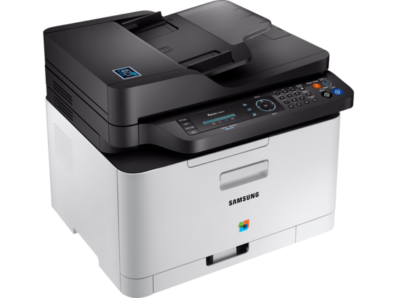 Samsung Xpress SL-C480FW Color Laser Multifunction Printer - Left