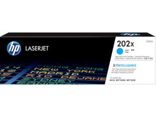HP 202X High Yield Cyan Original LaserJet Toner Cartridge, CF501X