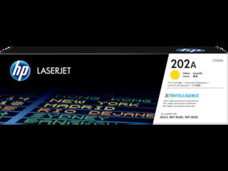 HP 202A Yellow Original LaserJet Toner Cartridge, CF502A