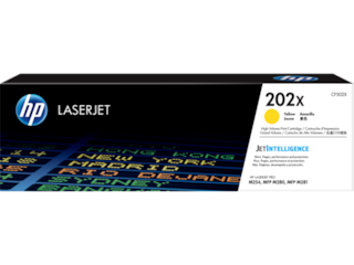 HP 202X High Yield Yellow Original LaserJet Toner Cartridge, CF502X