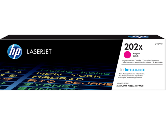 HP 202X High Yield Magenta Original LaserJet Toner Cartridge