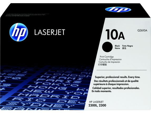 HP 10A Black Original LaserJet Toner Cartridge, Q2610A