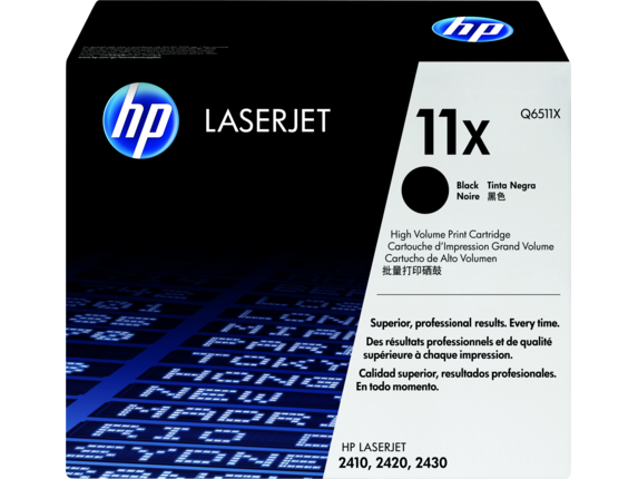HP 11X High Yield Black Original LaserJet Toner Cartridge, Q6511X