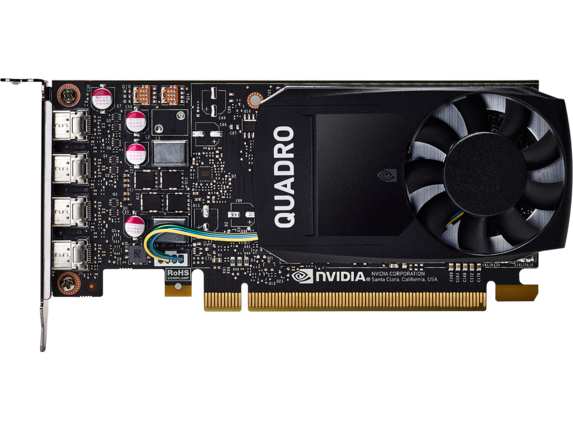 NVIDIA Quadro P1000 4GB Graphics - Center