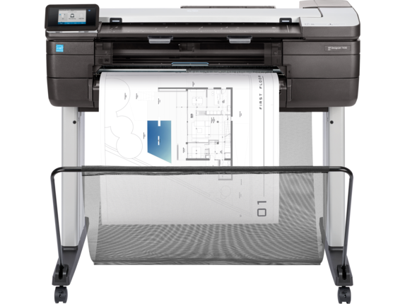 HP DesignJet T830 24-in Multifunction Printer - Center