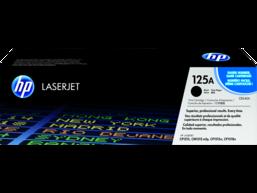 HP 125A Black Original LaserJet Toner Cartridge, CB540A