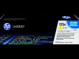 HP 125A Yellow Original LaserJet Toner Cartridge, CB542A