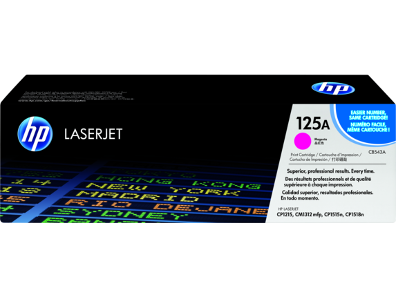 HP 125A Magenta Original LaserJet Toner Cartridge, CB543A