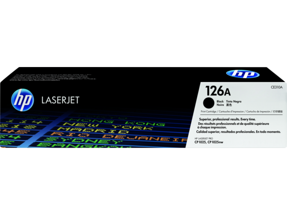 HP 126A Black Original LaserJet Toner Cartridge, CE310A