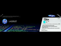 HP 126A Cyan Original LaserJet Toner Cartridge, CE311A