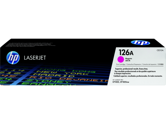 HP 126A Magenta Original LaserJet Toner Cartridge, CE313A