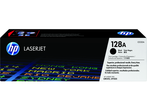 HP 128A Black Original LaserJet Toner Cartridge, CE320A