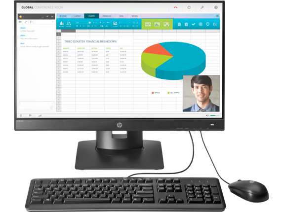 HP t310 G2 All-in-One Zero Client - Center