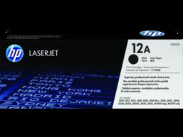 HP 12A Black Original LaserJet Toner Cartridge, Q2612A