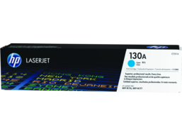 HP 130A Cyan Original LaserJet Toner Cartridge, CF351A