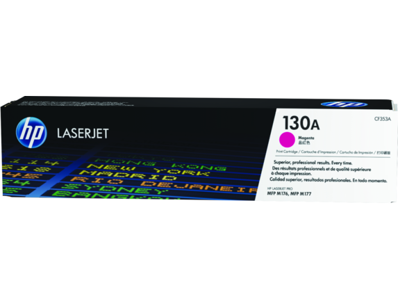 HP 130A Magenta Original LaserJet Toner Cartridge, CF353A