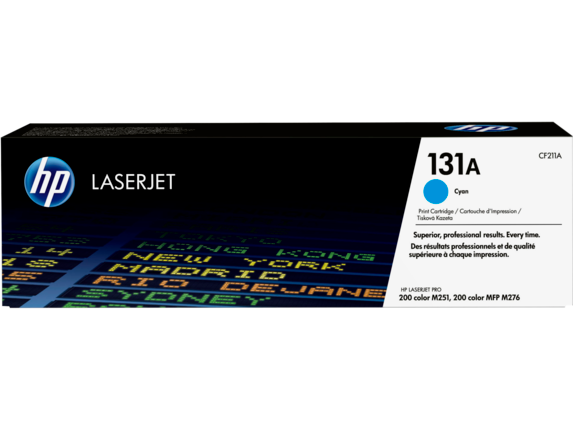 HP 131A Cyan Original LaserJet Toner Cartridge, CF211A