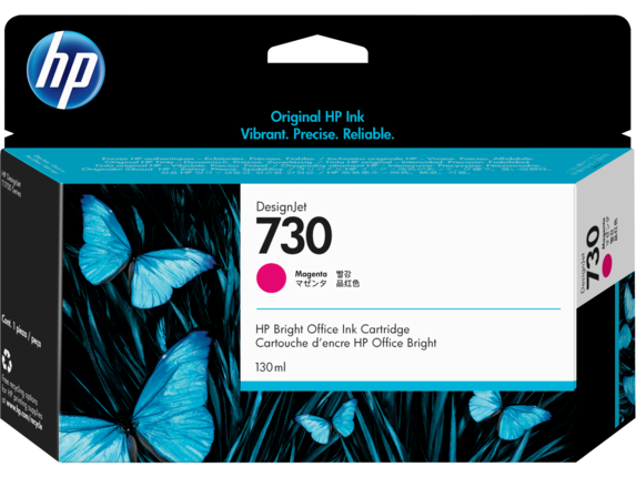 HP 730 130-ml Magenta DesignJet Ink Cartridge - Center