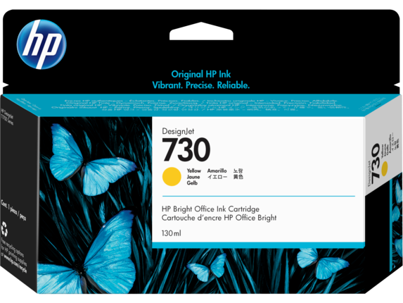 HP 730 130-ml Yellow DesignJet Ink Cartridge