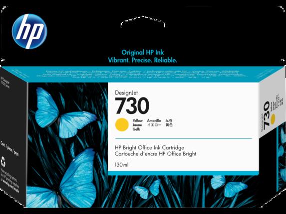 HP 730 130-ml Yellow DesignJet Ink Cartridge - Center
